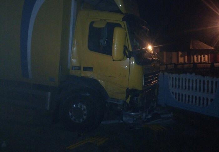 ДТП в Речице на перекрёстке Сыдько-Чапаева грузовик
