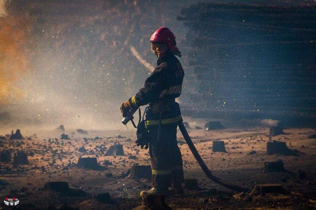 Пожар горит лес деревья 02.08.2017 спасатель пожарный