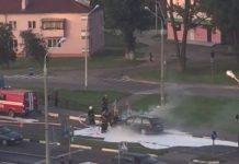 загорелся автомобиль в речице