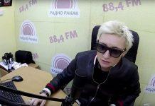 Диана Арбенина в студии радио ранак в Светлогорске