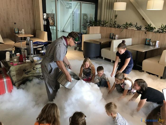 Научное кулинарное шоу в пицца смайл дети дети в дыму 2