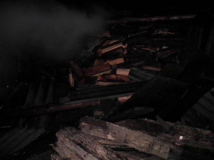Пожар в деревне Полесье