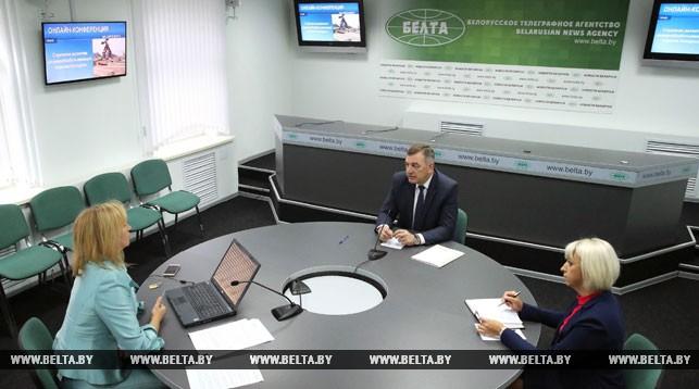 Юрий Назаров председатель концерна Беллесбумпром