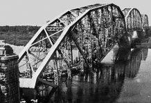 взорванный во время войны мост через Березину 2