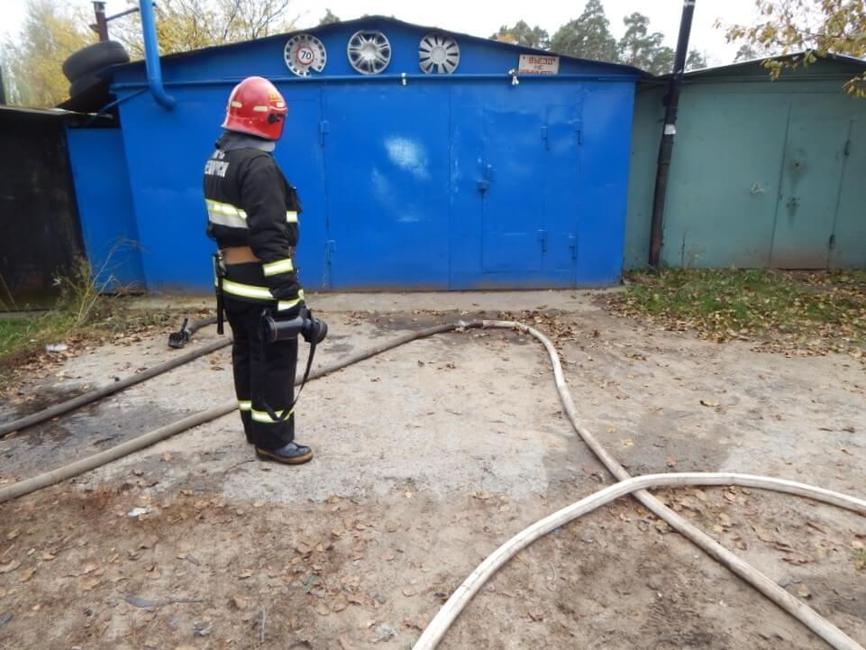 Пожар в гараже Металлист спасатель