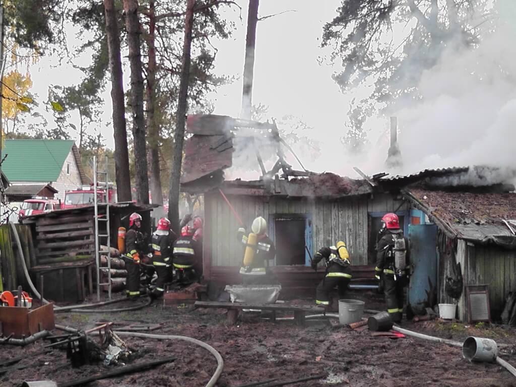 Пожар в посёлке строителей мчс
