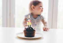 День рождение ребенка торт со свечкой