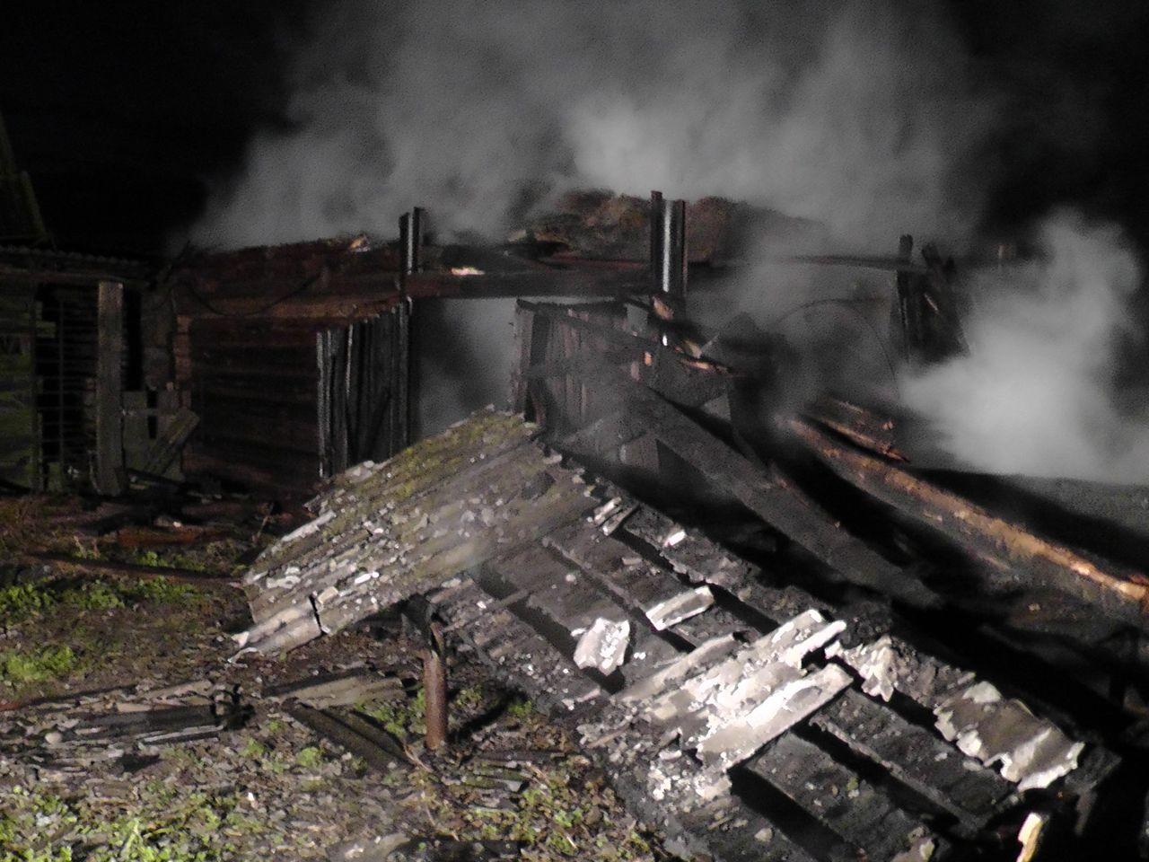 Пожар в деревне Секеричи cujhtk cfhfq 2