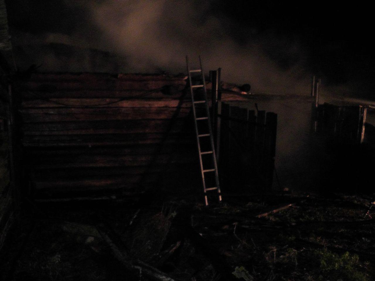 Пожар в деревне Секеричи cujhtk cfhfq
