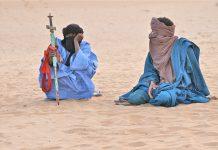 туареги мужчины племя в паранже
