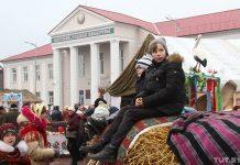 Дожинки в Житковичах Дом культуры и дети квитней родная беларусь