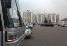 Областные дожинки 2011 в Светлогорске автобус МАЗ и парковка площадь