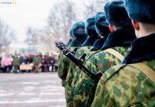 присяга вч 5525 в Гомеле строй солдаты автоматы