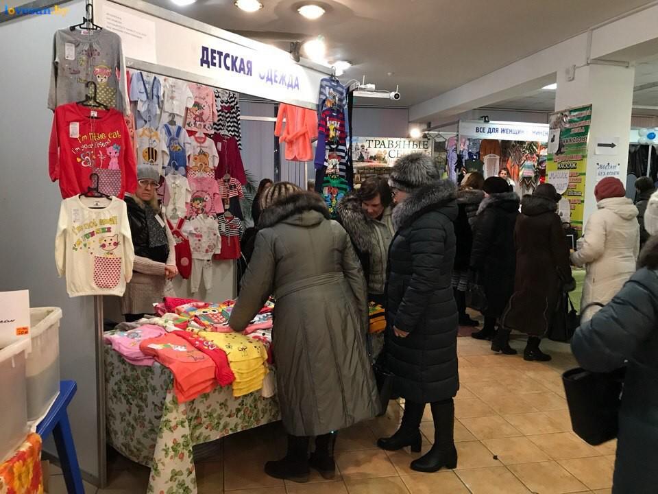 Выставка зимний ценопад в СЦК детская одежда