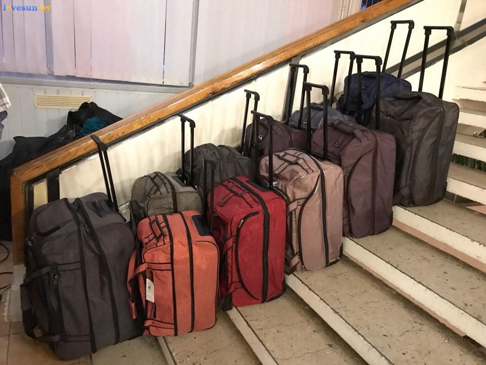Выставка зимний ценопад в СЦК дорожные сумки