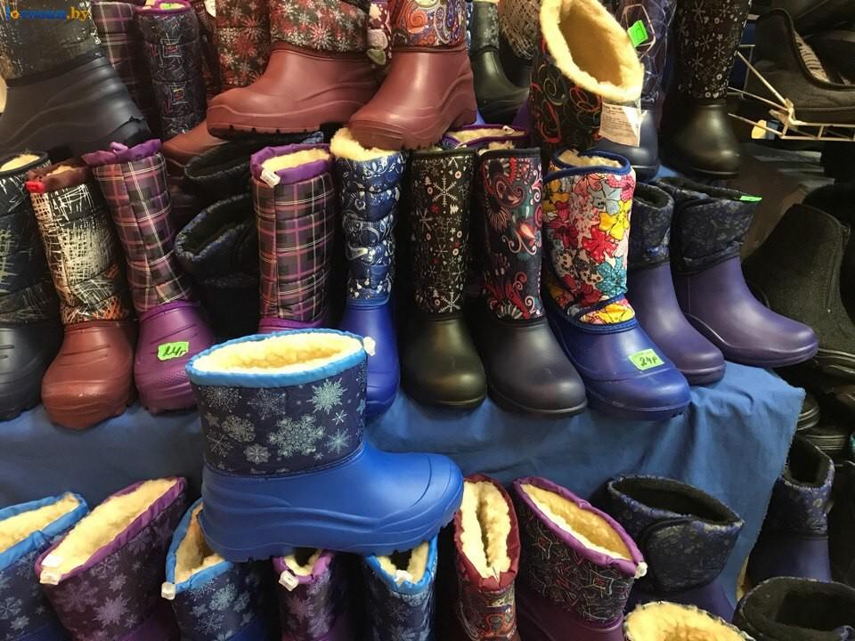 Выставка зимний ценопад в СЦК сапоги обувь
