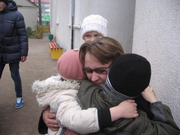 Надежда Дударенко с детьми
