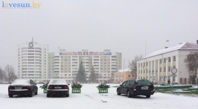 первый снег 2016/2017 площадь двенадцатиэтажка исполком