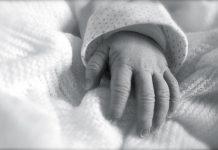 рука ребенка младенца