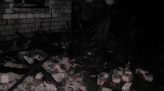 Пожар в Хуторе дом ночью