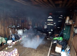 Пожар в гараже Металлистдым
