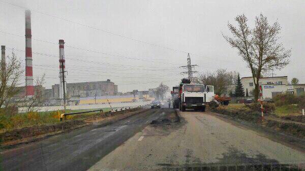 ремонт дороги на заводской улице и возле ТЭЦ