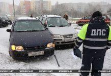 ДТП 14 авто в Гродно ГАИ ДПС