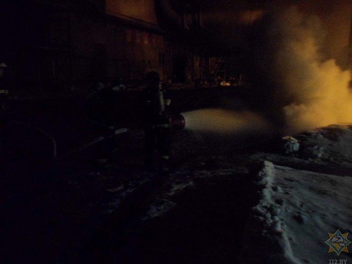 Пожар наБМЗ вечером 5марта