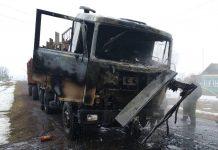 грузовой МАЗ который сгорел в Селищах 2
