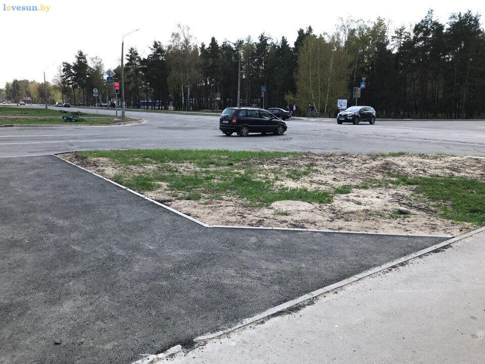 тротуарные дорожки на перекрестке 2
