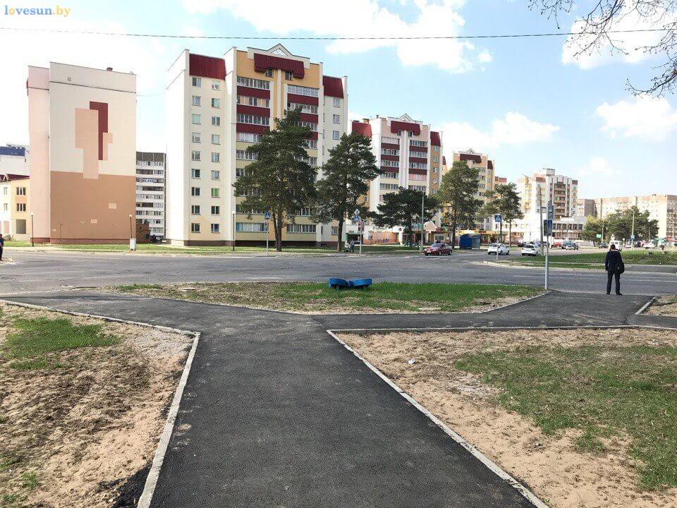 тротуарные дорожки на перекрестке 4