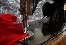 швейная машинка ткань шитье