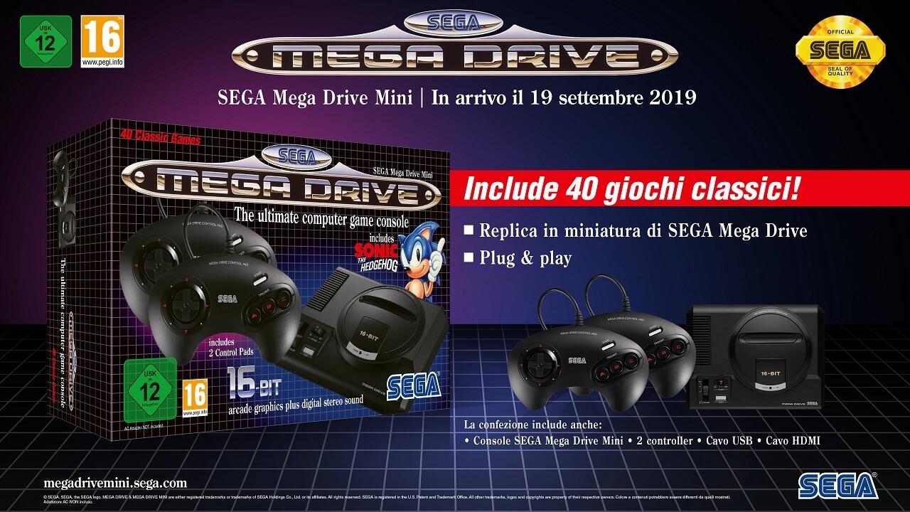 Комплект поставки и коробка новой Сега Мега Драйв мини