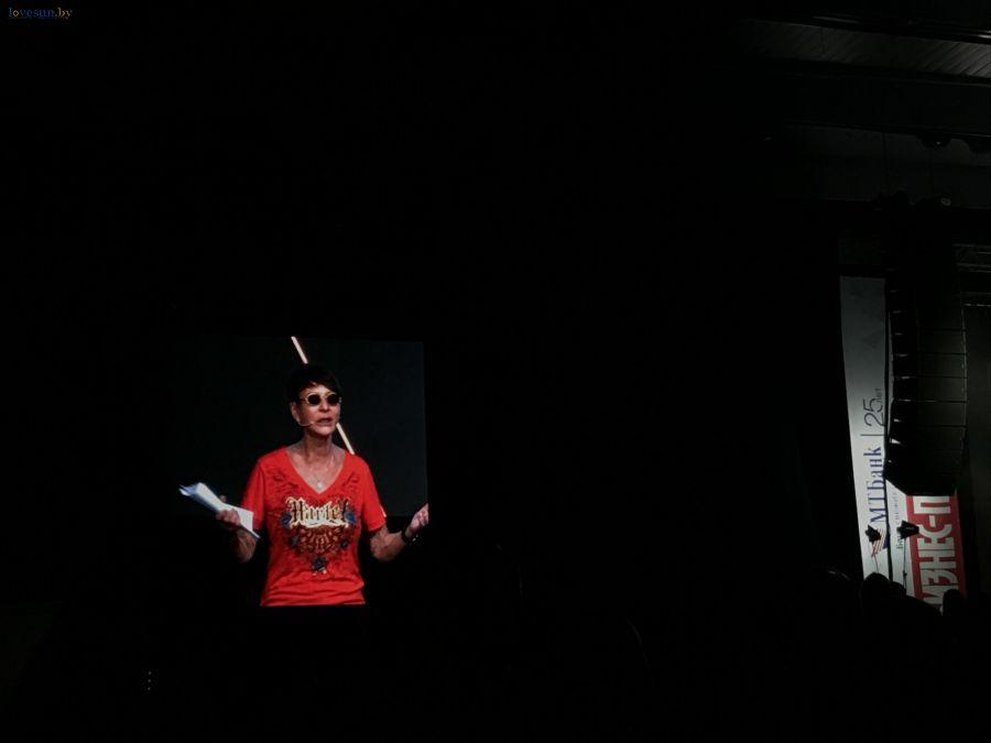 ирина хакамада на сцене бизнес пробуждения в минске