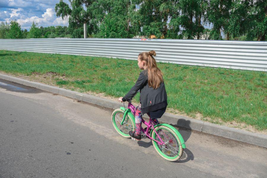 велопробег 2019 девочка на детском велике