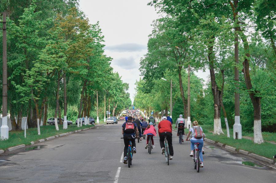 велопробег 2019 в зеленой аллее