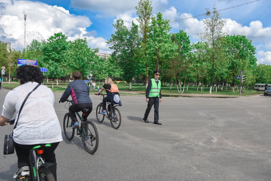 велопробег 2019 гаишник милиционер