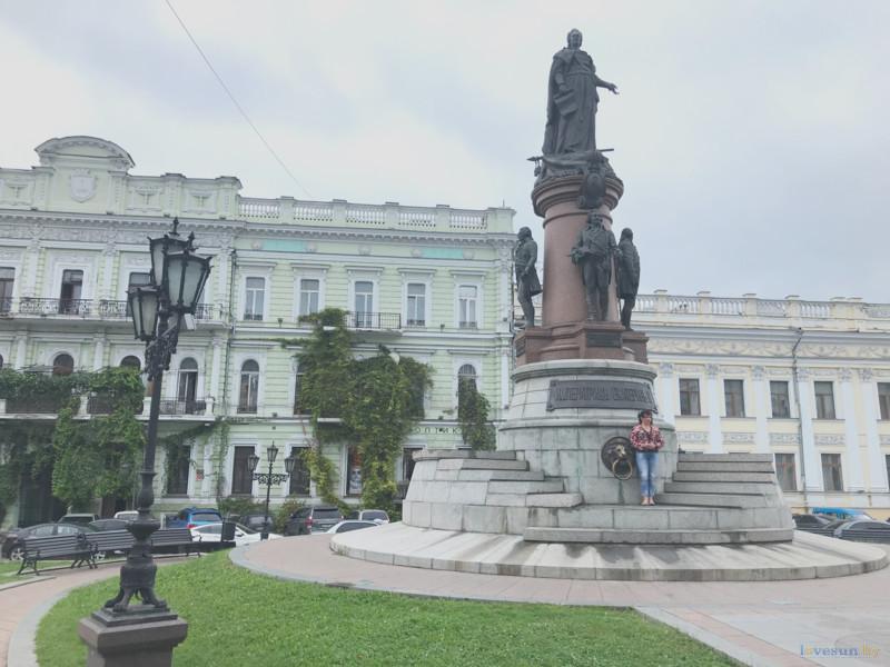 Памятник Екатерине II и основателям Одессы