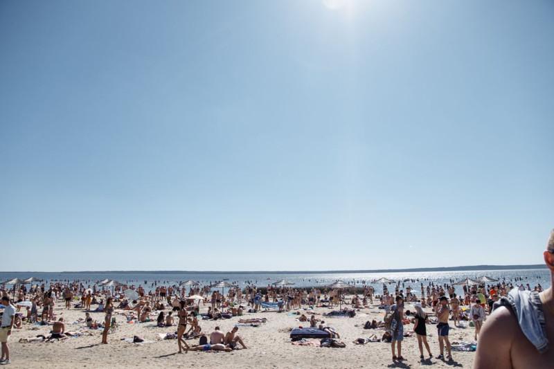 центральный пляж в Браславе