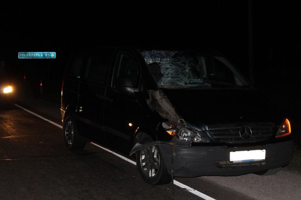 Микроавтобус сбил пешехода