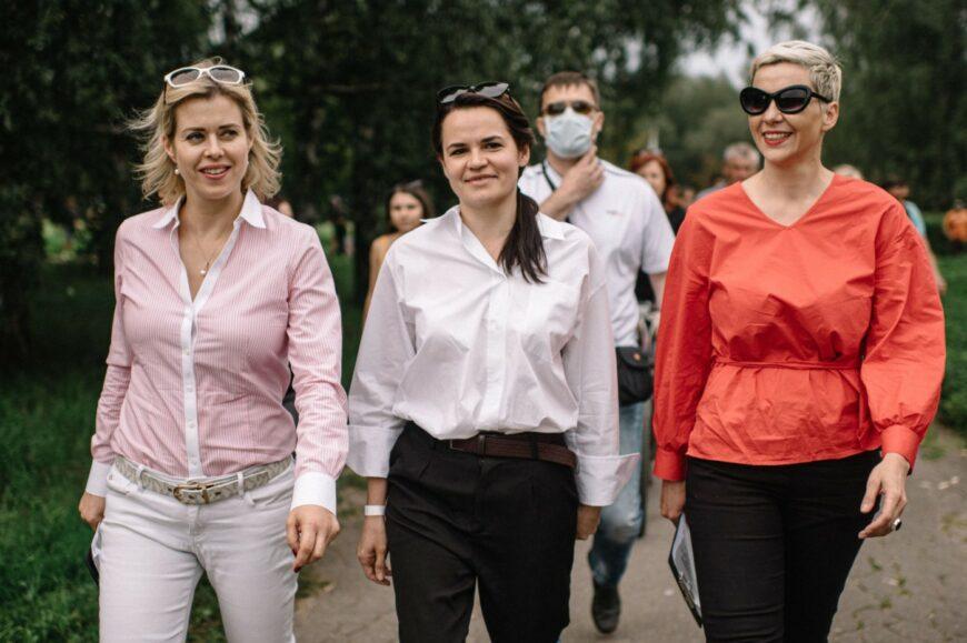 Вероника Цепкало, Светлана Тихановская, Мария Колесникова вместе