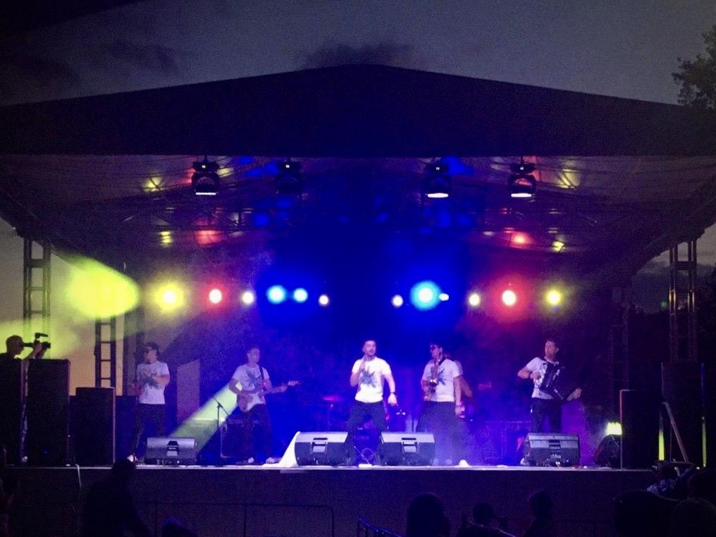 Группа «Дрозды» на сцене 8 августа