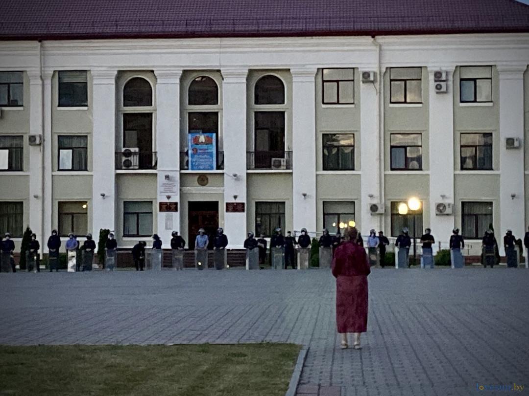 милиция на площади Светлогорска
