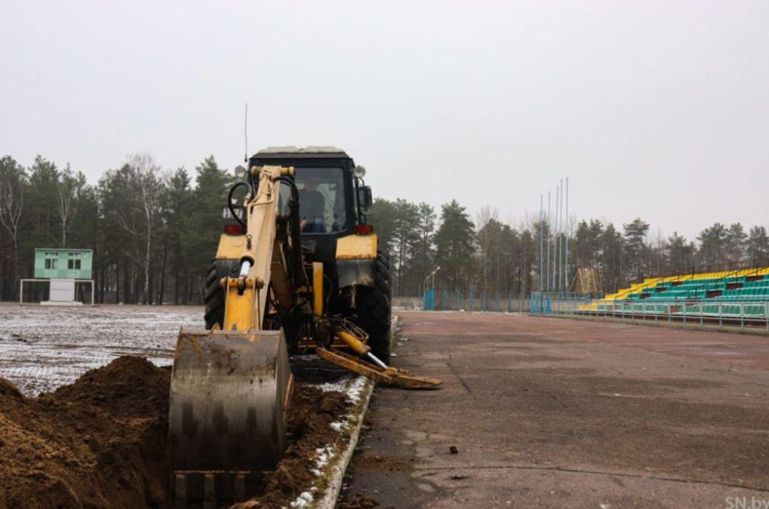 трактор на стадион