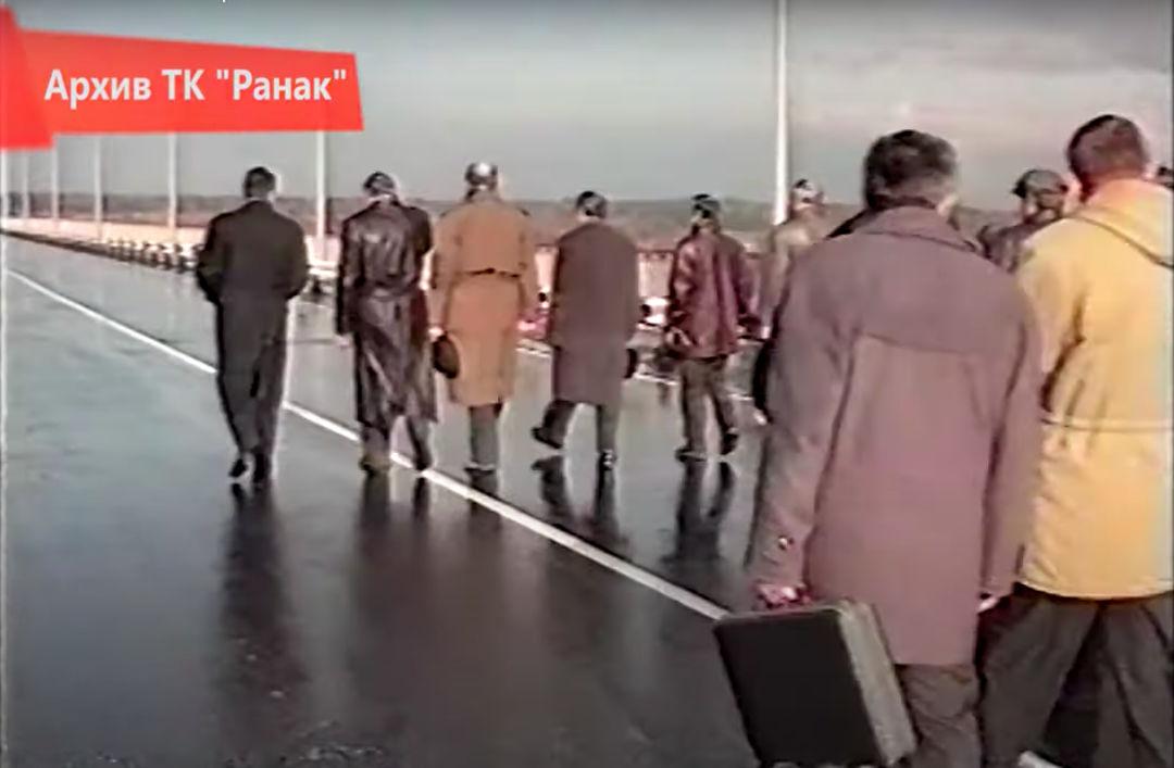 Открытие моста через Березину